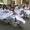 Folkloric studentrs in old Havana